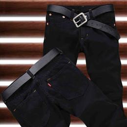 Wholesale Button Fly Men S Jeans - Wholesale-2016 New Arrival Hot Sale Fashion Black Straight Leisure & Casual Brand Jeans Men,Wholesale&Retail Denim Cotton Men Jeans,33077