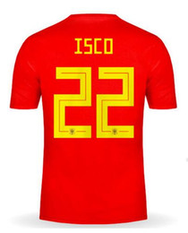 white mens shirts 17 Coupons - Discount Cheap Custom 18-19 Home Red men isco 22 Thai Quality Soccer Jersey shirts tops,mens Customized 17 Iago Aspas Ramos 11 Lucas V. wear