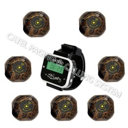 Wholesale Wireless Bell Restaurant - wireless call bells calling system for restaurant call buttons transmitter-one wrist watch and 7 buttons