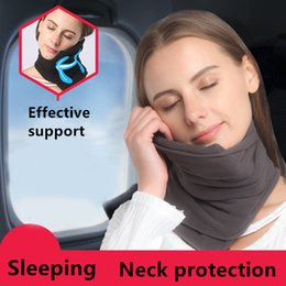 Wholesale Home Neck Pillow - 5 Colors Soft Neck Pillow Scarves No Inflatable Comfortable Travel Pillows for Sleep Home Textile Memory Foam Airplane Trtl Neck Pillow