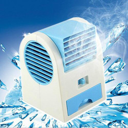 Wholesale Fragrance Sales - HOTTEST Sale Mini USB Fragrance Refrigeration Fan Portable Bladeless Desktop Fan Cooling Air Conditioner with Retail Packaging