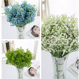 Wholesale Artificial Flowers Gypsophila - Simulation Flowers Artificial PU Gypsophila Flowers Wedding Fake Babysbreath Christmas Party Table Decoration Artificial Bouquet DHL