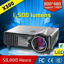 Wholesale Hdmi Download - Wholesale- china made best selling hind song hd download 1500 lumens home theater mini projector CRE X300 most popular!!!