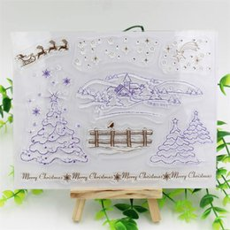 Wholesale Scrapbooking Sheets - Wholesale- Winter Transparent Clear Silicone Stamp Seal for DIY scrapbooking photo album Decorative clear stamp sheets