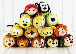 Wholesale Screen Figures - Mini Tsum Tsum Plush Toy Thumper Doll Stitch Mermaid Sully Cute Elf Screen Cleaner for Juguetes Set Free Shipping