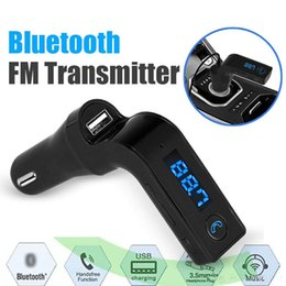 Wholesale Car Kit Bluetooth Wholesale - 2017 New For iPhone, Samsung, LG, HTC Android Smartphone Bluetooth FM Transmitter Wireless In-Car FM Adapter Car Kit with USB Car Charger