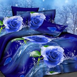 Wholesale Family Sheet - Wholesale-OKCO Flower 3d bedding set,Home textiles 4pcs family set. include: Duvet cover sheet pillowcase,Brazil Free Shipping