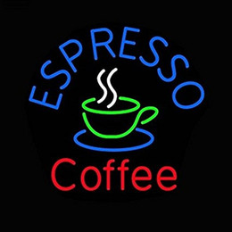 "Wholesale Lighted Coffee Signs - 24""x20"" Coffee Shop Custom Neon Sign Beer Bar Pub Neon Light Sign-Fantastic Artwork"