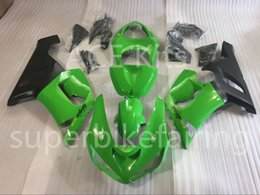 Wholesale Kawasaki Bike Fairing Zx6r - 3 free gifts New Hot ABS motorcycle bike Fairing kits 100% Fit For Kawasaki Ninja ZX-6R 2005 2006 6r 636 05 06 ZX636 Cool Green No.100