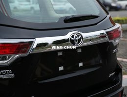 Wholesale Decoration Toyota - High quality Rear Door Trunk Lid ABS Chrome decoration Cover TRIM 1pcs for 2015 Toyota Highlander accessories