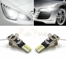 Wholesale Replacement Fog Lamps - New Style H3 Canbus Fog Light Car Front Headlight DRL Replacement Lamps Error-Free White 24SMD 4014 Car Light Source 12V
