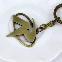 Wholesale R Pendants - Batman Robin R Mark Logo Keychain Metal Key Chain Pendant Keyring Key Ring
