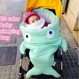 Wholesale Stroller Winter Sack - Cute 10 color Kid sleeping bags sack shark and starfish shape baby sleeping sack newborns Winter Strollers Blanket kid371