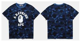 Wholesale T West - kanye west T Shirts men short sleeve t shirt brand aap shark print tshirt homme Brand T-Shirt bap shark clothing free shipping