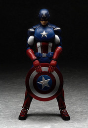 Wholesale Hot Toys Figures - New hot sale anime figure toy Figma 226 The Avengers Captain America 16CM gift for children