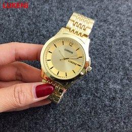 Wholesale Geneva Classic - NEW 2017 Geneva Diamond Luxury Watches Classic Design Rose Gold Men Watch Women's Dress Watch