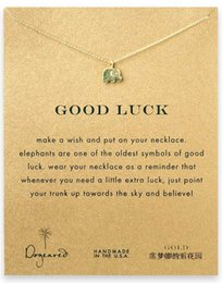 Wholesale Good Luck Elephant - Moon Dogeared Good Luck Alloy Elephant Gold Plated Shorts Chains Clavicle Necklaces & Pendants New Fashion Jewelry For Women