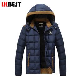 Wholesale Thin Overcoat - Wholesale- LKBEST 2017 New men Winter down parka Warm thin winter Jacket men hooded Casual men's down coat brand cotton overcoat (PW626L)