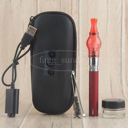 Wholesale China E Cig Kits - China Direct Dab Wax Dome Vape Pen Attachments eGo T Glass Globe Bulb Vaporizer Vapor Starter Kits Zipper Case E Cig
