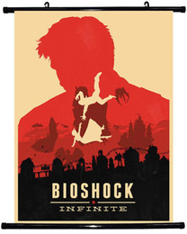 "Wholesale Bioshock Figure - Free shipping 24""x35"" inch,BioShock Infinite GAME,Poster HD HOME Hanging scroll Decor ART CANVAS printing -385"