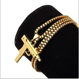 Wholesale Necklaces Pieces Sale - Sale Charm Necklaces Mens Hip Hop Gold Jewelry Gangsta Pendant Design Punk Rock Fashion Filling Pieces Chains 60CM Long