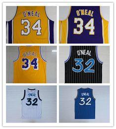 Argentina 32 O'Neal Jersey Shaquille Negro Blanco Azul Verde Amarillo Púrpura 34 Shaquille O Neal ONeal Jerseys Shirts envío gratis supplier yellow blue jersey Suministro