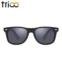 Wholesale Colorful Plastic Sunglasses - Wholesale-TRIOO Driving Polarized Sunglasses Men Black UV400 Black Oculos masculino Plastic Mens Lunette Colorful Lens Male Sun Glasses