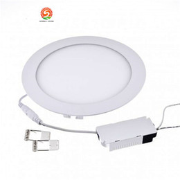 """Wholesale Thinnest Ceiling Light - Ultra thin LED Downlight 12w 15w Non dimmable led recessed ceiling down light SMD2835 6"""" led panel lights lamp AC85-265V + driver"""