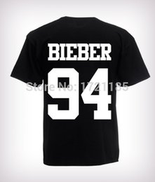 Wholesale Flash Age - Wholesale- 2016 Fashion Justin Bieber T Shirt band boy t shirt rock hip hop short sleeve Name and age T-shirt For Custom t-shirts