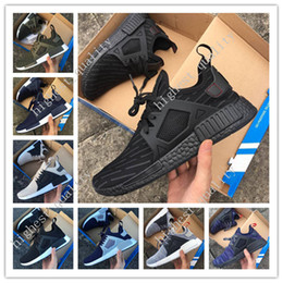 Wholesale Men Shoes Leather Lace - NMD XR1 Primekint Blue White Women Men Running Shoes Mastermind Japan Skull Fall Olive green Duck Camo Glitch Black Sport Designer Sneakers