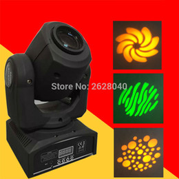 Wholesale Moving Head Gobo - Wholesale- (1 pieces lot) led stage light equipment 30W moving gobo light mini gobo moving heads dj lights