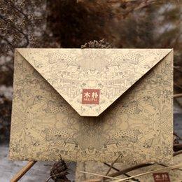 Wholesale Plastic Invitations - Wholesale- 10pcs lot Kraft Paper Envelope Invitation Postcard Greeting Card Cover Envelopes 15.4 x 10.8 cm   6 x 4.25 inch