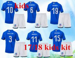 45d268faf NEW Italy 2018 World Cup kids Kits Home Youth Jersey 17 18 Bonucci Verratti Chiellini  INSIGNE Belotti Jerseys Italy KIDS Football Uniforms.