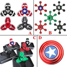 Wholesale Bear Fingers - 2017 New arrive avengers fidget spinner EDC Hand Spinner Fidget Toy Good Choice For decompression anxiety Finger Toys with best bearing