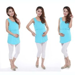 Wholesale Breastfeeding Tops L - Fashion Maternity clothes maternity tops Maternity Shirt nursing clothes Nursing Top Breastfeeding tops pregnancy clothes For Pregnant Women