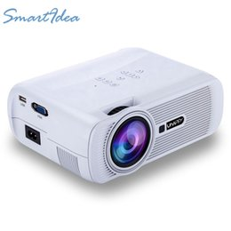 Wholesale hd game projector - Wholesale-Best 1800lumens Mini Projector LED 3D Home Cinema Video Game Multimedia HDMI TV Proyector Beamer Full HD 1080P Support