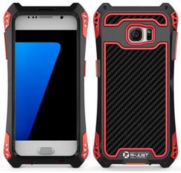 Wholesale Metal Shock Cases - Phone Case for Samsung Galaxy S7 S7 Edge Luxury Doom Armor Dirt Shock Proof Metal Aluminum Shell