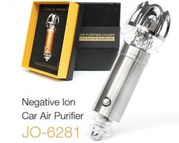 Wholesale Auto Car Air Purifier - diffuser Auto Air Purifier Oxygen Bar Lonizer Car Interior Decoration Freshener Remove Smoke air cleaner Purifier