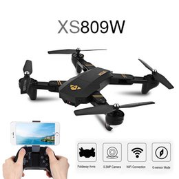 Wholesale Holding Camera - Original Visuo XS809W RC Dron Mini Foldable Selfie Drone with Wifi FPV REAL TIME 2MP HD Camera Altitude Hold Quadcopter XS809HW