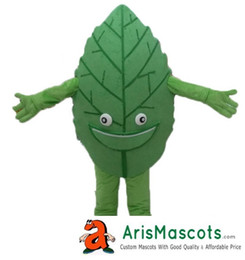 Wholesale Leaf Man Costumes - 100% real photos Leaf mascot costume advertising fur plush mascota outfit Plant mascots color accept color change drop shipping