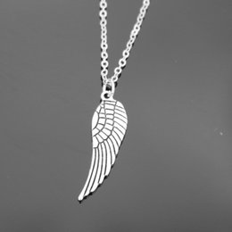 Wholesale One Direction Girls Accessories - Wholesale-One Direction Exo Collares New Girl Bijoux Pendants Love Vintage Wing Necklace For Women Jewelry Statement 2016 Accessories