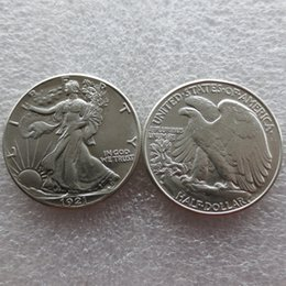 Wholesale Nice Old - Wholesale United States Date 1921 - D 90% Silver Walking Liberty Half Dollars Nice Quality Colour: do old or new Copy Coins FREE SHIPPING