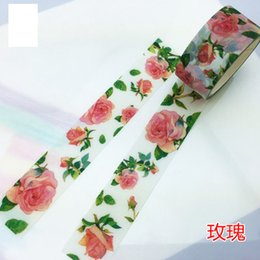 Wholesale Japanese Washi Paper Wholesale - Wholesale- 2016 Rose Washi Tape Deco Tape Papeleria Decorative Adhesive Paper Tape Stickers Scrapbooking Adesivo Japanese 1pc