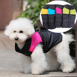 Wholesale Wholesale Dog Jackets - Winter Pet Dog Coat Jacket Vest Clothing Colorful Fashion Waterproof Snowsuit Clothes Fit Puppy Chihuahua Pets Dogs Clothing 07040