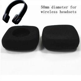 Headset schwämme online-4 stücke 50mm schaum ear pads ohrstöpsel headset ohrpolster schwamm pads abdeckung 5 cm für Jaybird drahtlose kopfhörer