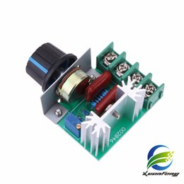 Wholesale Sale Free Shipping Worldwide - Free Shipping High Quality 1pc 2000W AC 220V SCR Electronic Voltage Regulator Module Speed Control Controller Worldwide Top Sale