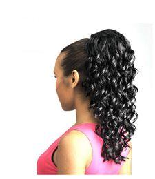 Xiu Zhi Mei Vente Chaude! Jolies extensions de cheveux de queue de cheval de cordon de dame pour des filles crépus bouclés cordons de queue de cheval de cordon, ? partir de fabricateur