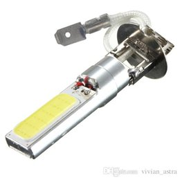 Wholesale headlight dome - Best Price H3 COB LED Super Bright White Car Auto DRL Driving Fog HeadLight Parking Light Lamp Bulb DC12V