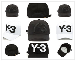 Wholesale Cheap Sports Hat - Cheap Y-3 Dad Hat Big Bold Embroidered Logo Baseball Caps Adjustable Strapback Hats Y3 bone Snapback sport Casquette visor gorra