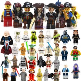 Wholesale Spiderman Toy Building - Minifig Super Heroes Avengers Spiderman Star Wars Harry Potter Hobbit Super Hero Mini Building Blocks Figures Toys free shipping OTH549